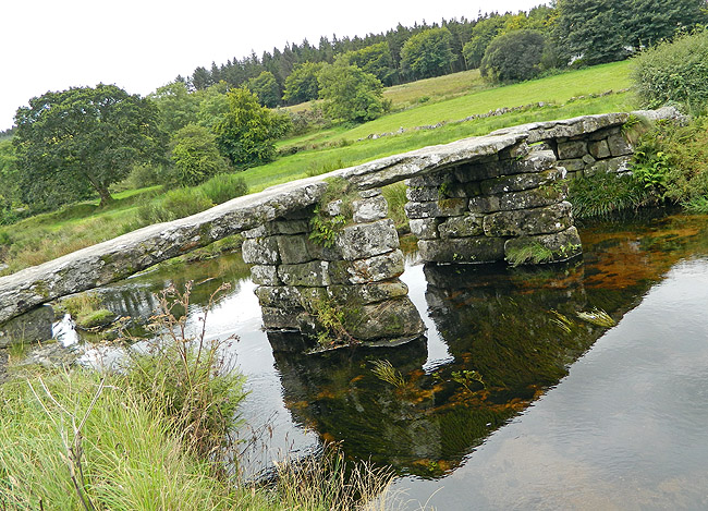 Dartmoor - stone bridge across the source of the river Dart