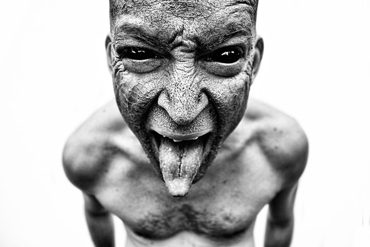 Dark Art Photograph Of Demon In Human Form Evil Mockery By