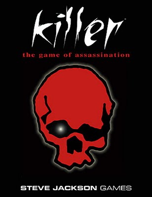 Killer the game of assassination by Steve Jackson first published in 1982 and the forefather of pervasive gaming