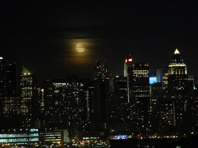 Manhattan by moonlight NYC