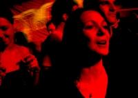 UK club culture - dancing in red light