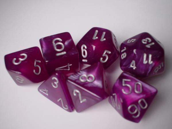 RPG dice used in role-playing games pyramids, dodecahedrons, decahedrons