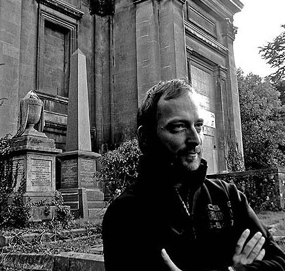 Sci-fi and dark fantasy author David J Rodger Arnos Vale cemetery Bristol