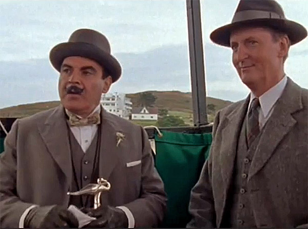 Sea Tractor used to reach Burgh Island - Agatha Christie Evil Under the Sun - David Suchet as Poirot