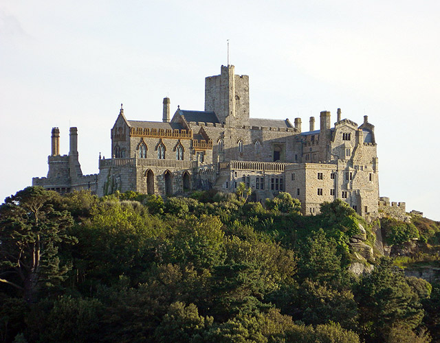 St Michael's Mount as viewed from Marazion