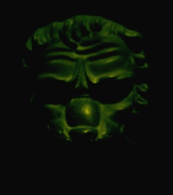 Venice - medieval door knocker - demonic face