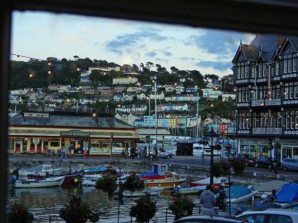 view of Dartmouth from the Royal Castle Hotel