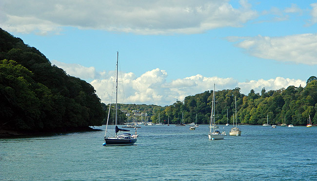 view of river Dart near to Greenway Estate linked to Sir Francis Drake and Agatha Christie