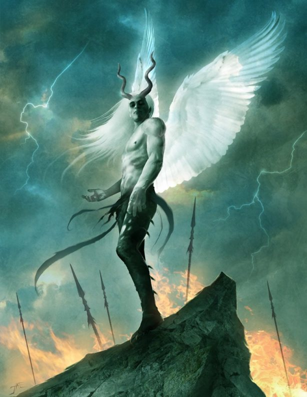 Lucifer Rising - digital art by Jason Engle
