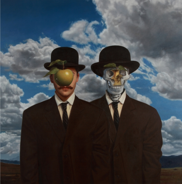 Digital Art ¦ Adaptation of Rene Magritte's Son of Man by Ron English - POPaganda