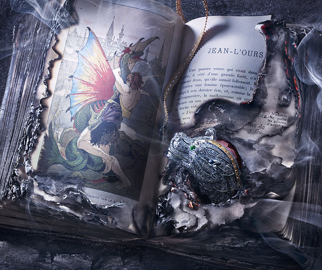 Photography ¦ Medieval Fantasy and Coruscations of Cartier Dragons - Peter Lippmann via Chicquero