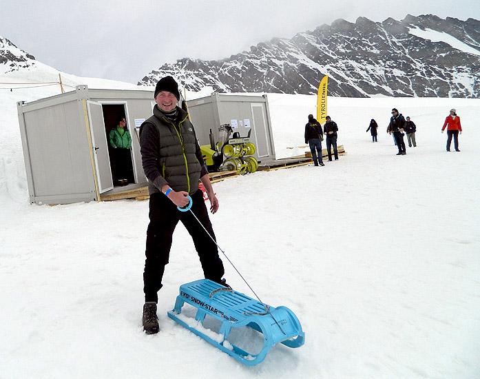 Jungfraujoch Switzerland Sledging at 11,782 feet David J Rodger