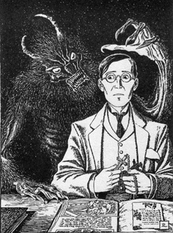 Artists impression of the being from Canon Alberic's Scrapbook by M R James
