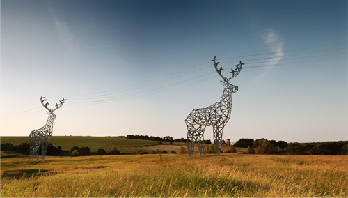 deer shaped electricity pylon concept by Moscow-based design studio Design Depot - idea for Winter Olympics in Sochi 2
