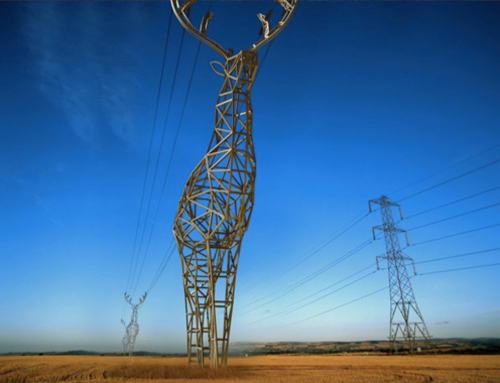 deer shaped electricity pylon concept by Moscow-based design studio Design Depot - idea for Winter Olympics in Sochi