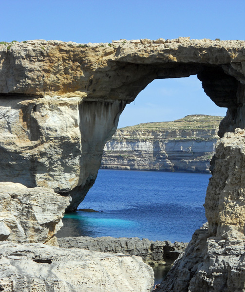 Malta - Gozo - Azure Window viewed from landward side