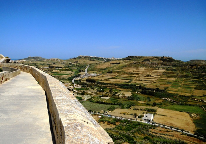 Malta Gozo - Victoria Rabat Citadel - view from fortifications
