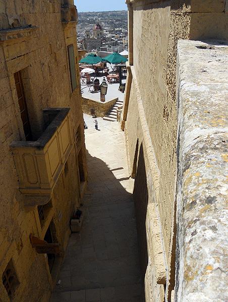 Malta Gozo - Victoria Rabat Citadel - view of narrow medieval street