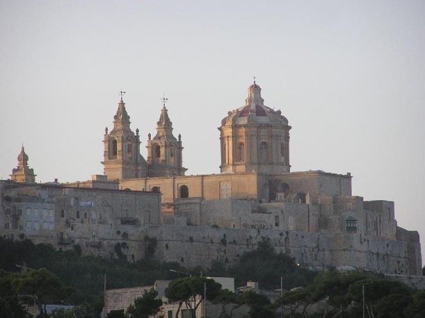 Malta - medieval city of Mdina (silent city) Rabat - viewed from distance