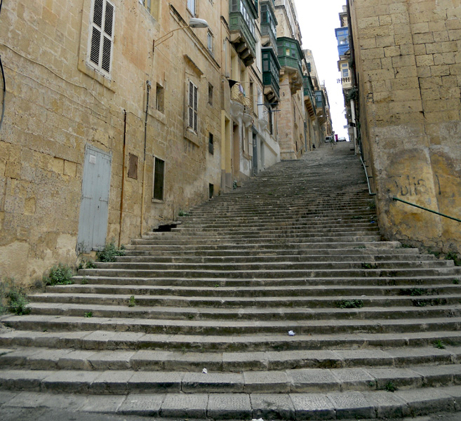 Malta Valletta steps