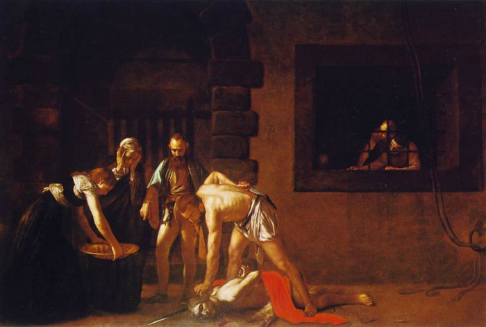 Michelangelo Caravaggio beheading of john the baptist housed in St. John's Co-Cathedral Valletta