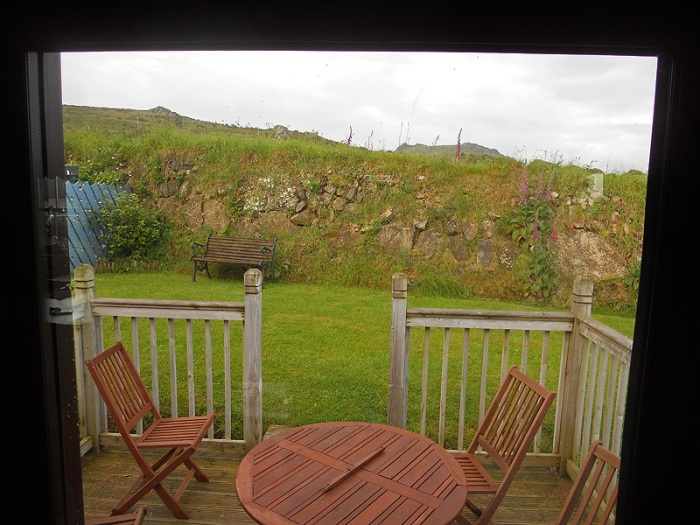 Casa Mia cottage strumble head pembrokeshire wales outside decking seating area