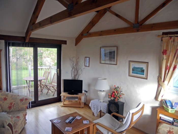 Casa Mia cottage strumble head pembrokeshire wales view of living room