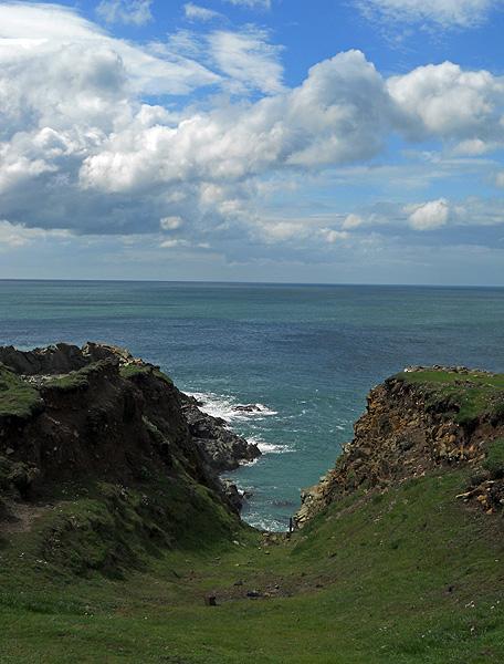 Cliffs above Porthgain pembrokeshire Wales