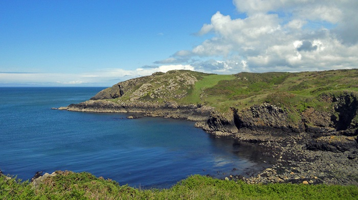 Coastal walk from Strumble Head lighthouse to Goodwick Pembrokeshire Wales