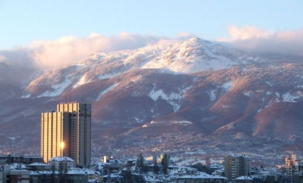 Bulgaria - Sofia - a view from the city looking up to mountains - resource of Horror on the Orient Express
