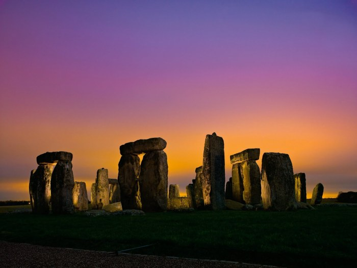 Stonehenge is a prehistoric monument located in the English county of Wiltshire not far north of Salisbury