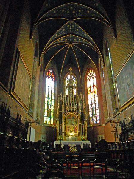 Krakow Poland interior of Bazylika Sw Franciszka Z Asyzu XIII w