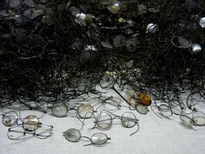 Auschwitz Poland spectacles belonging to the victims