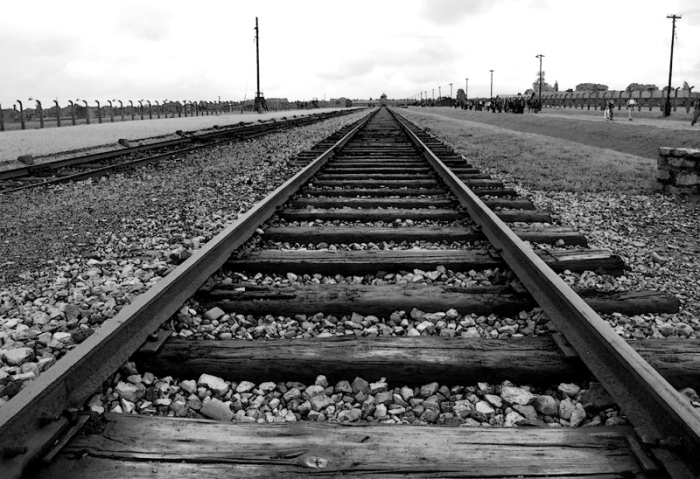 Birkenau Poland train track - final stop