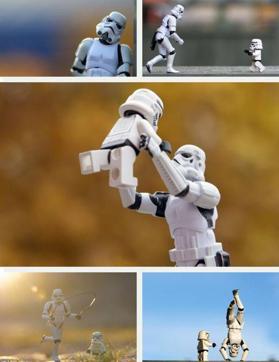 stormtrooper husbandry - snapshots of stormtrooper father and child