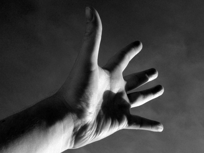 Photo black and white male hand by David J Rodger