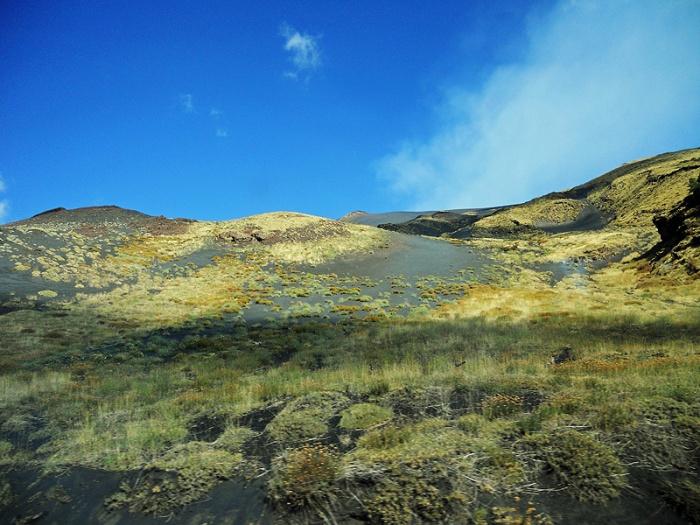 Travel Photo alien landscape flanks of mount Etna Sicily by David J Rodger