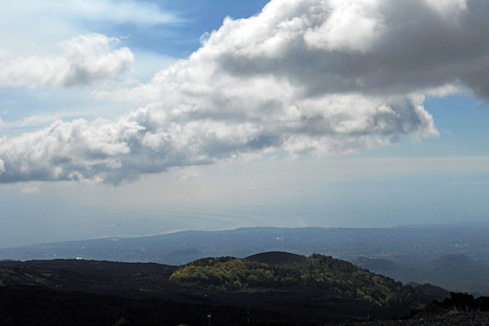 Travel Photo Sicily - cloud formations over mount Etna by David J Rodger