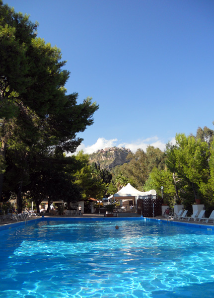 Travel photo Sicily swimming pool at Excelsior Palace hotel Taormina - beautiful hotel amazing service friendly staff