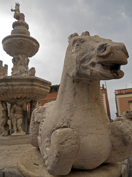 Travel photo - Sicily Taormina - fountain in Piazzi Duomo by David J Rodger