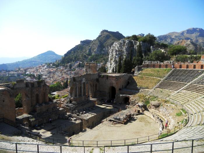 Travel photo Sicily - Taormina - Greek Ampitheatre by David J Rodger