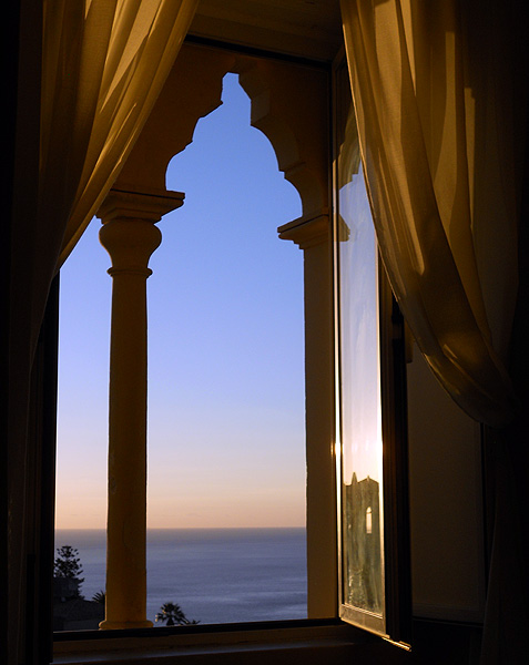 Travel photo Sicily Taormina stunning view from hotel window Excelsior Palace by David J Rodger