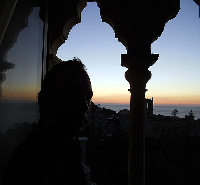 travel photo Sicily Taormina watching the sunrise from hotel room Excelsior Palace