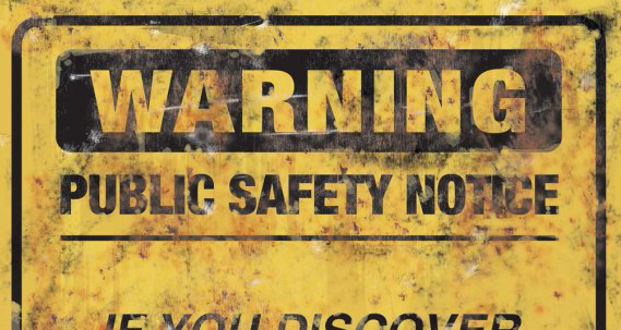 art-wallpaper-sci-fi-cyberpunk-zombie-infection-public-safety-warning-sign-from-yellow-dawn-an-rpg-by-british-cyberpunk-horror-author-david-j-rodger