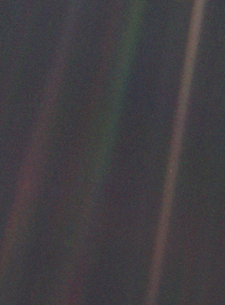 Pale Blue Dot Carl Sagan You Are Here - image of Earth from 6 billion kilometers