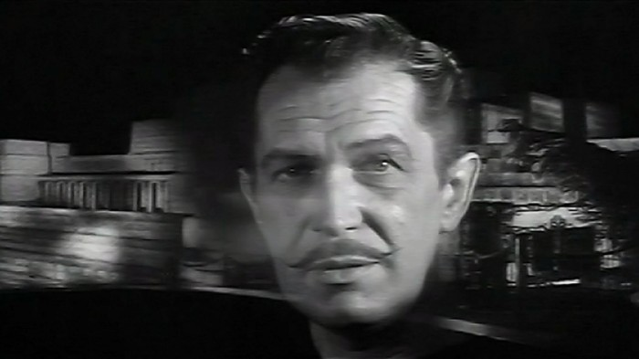 Black and White Horror Classic House on Haunted Hill 1959 Vincent Price narrates the start of the story