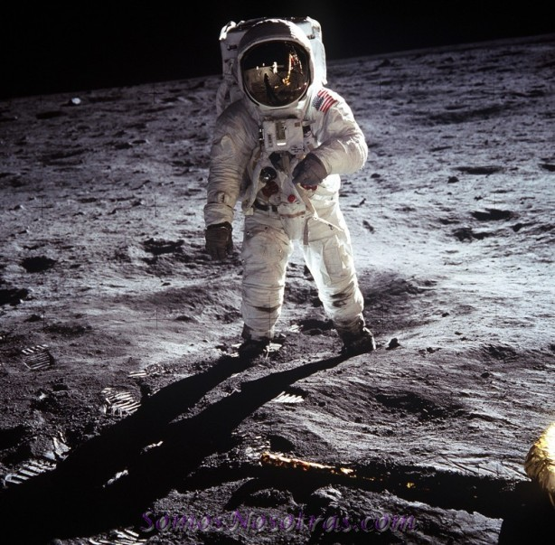 Buzz Aldrin on the surface of the moon taken by Neil Armstrong Photo NASA