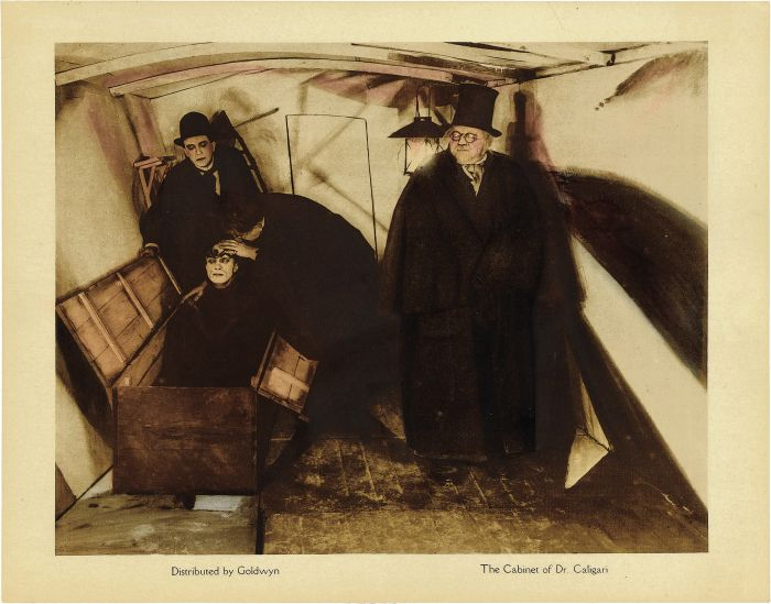 Cabinet of Dr Caligari 1920 Cinema Lobby Card black and white movie #wallpaper