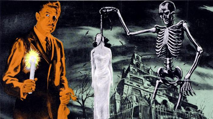 La mansion de los horrores 1959 Black and White Horror Classic House on Haunted Hill 1959