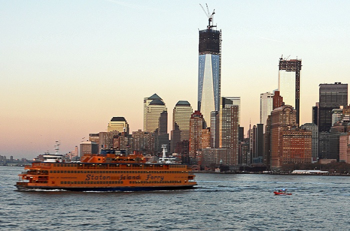New York - Freedom Tower Rises - Viewed from Staton Island Ferry